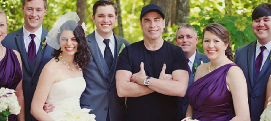 John Travolta celebrities Wedding Crash