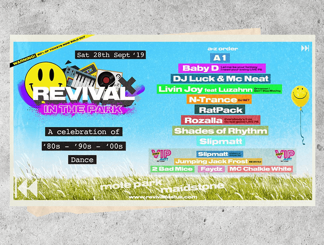 N-Trance, Ratpack and Livin' Joy feat. Luzahnn programmed for Revival in the Park Festival
