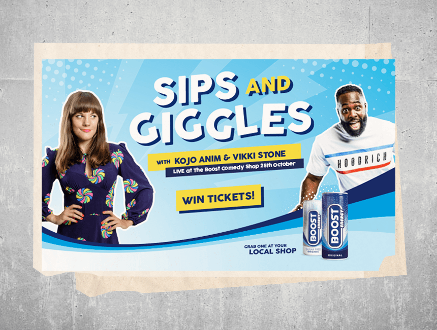 """Kojo Anim and Vikki Stone bring """"sips and giggles"""" to Boost Comedy Night"""