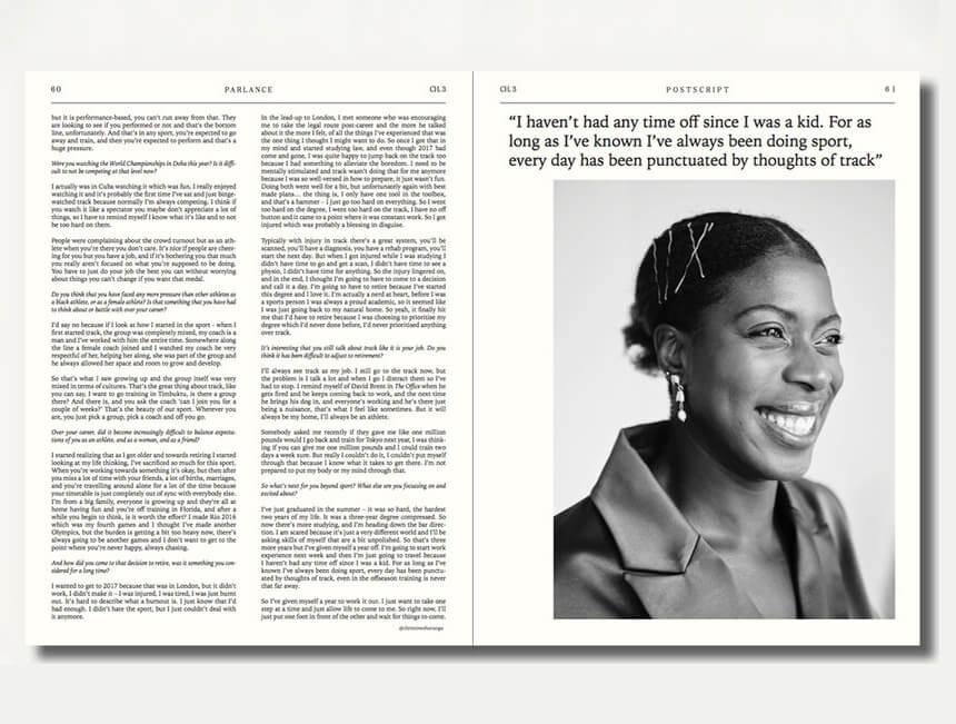 Christine Ohuruogu MBE shot and interviewed for POSTSCRIPT