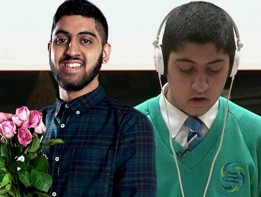 Educating Yorkshire's Musharaf Asghar appears on BBC's The One Show, speaks at United Response event
