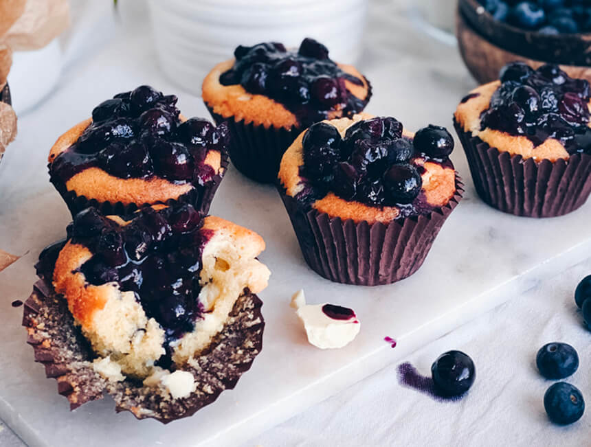 Ruby Bhogal's blueberry and white chocolate muffins for GQ