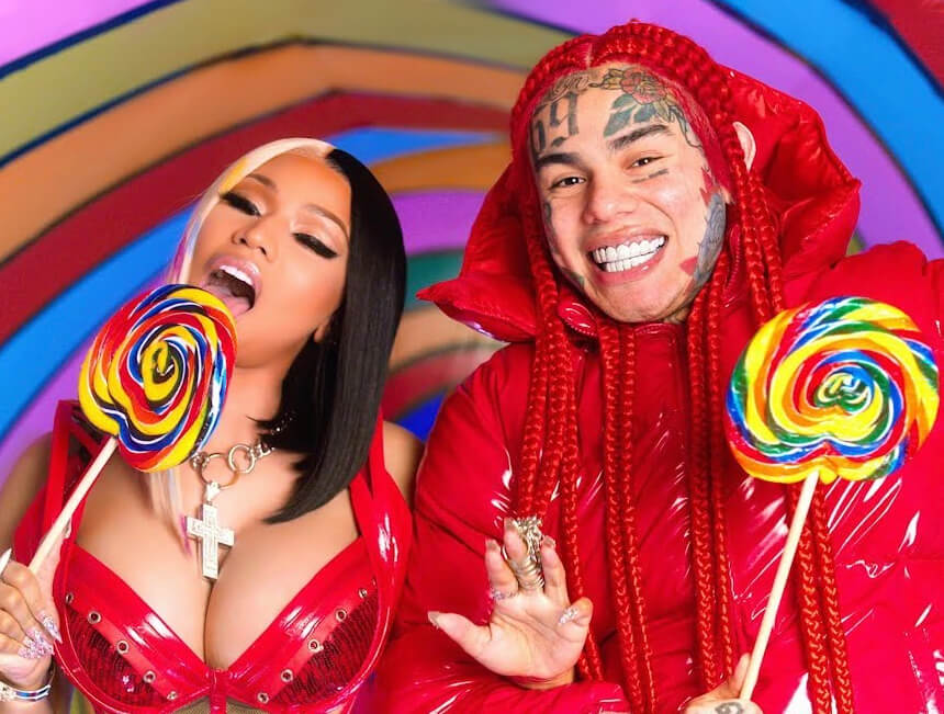 "Tekashi 6ix9ine links up with Nicki Minaj for ""Trollz"""