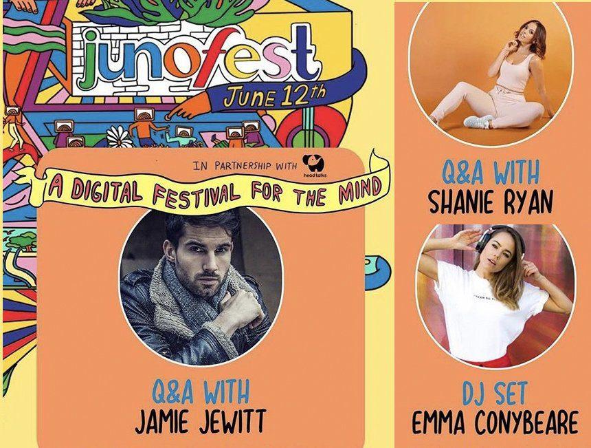 "Jamie Jewitt, Emma Conybeare and Shanie Ryan take part in ""digital festival"" JunoFest"