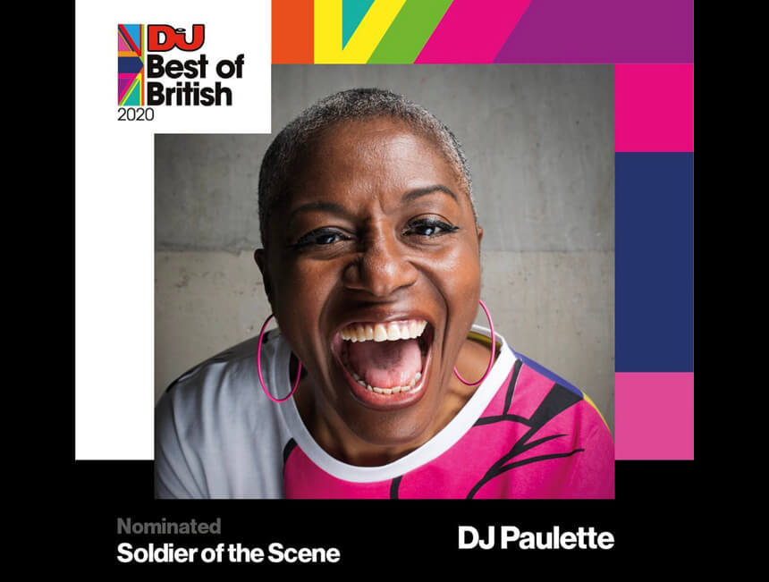 DJ Paulette nominated for Soldier of the Scene at DJ Mag's Best of British Awards