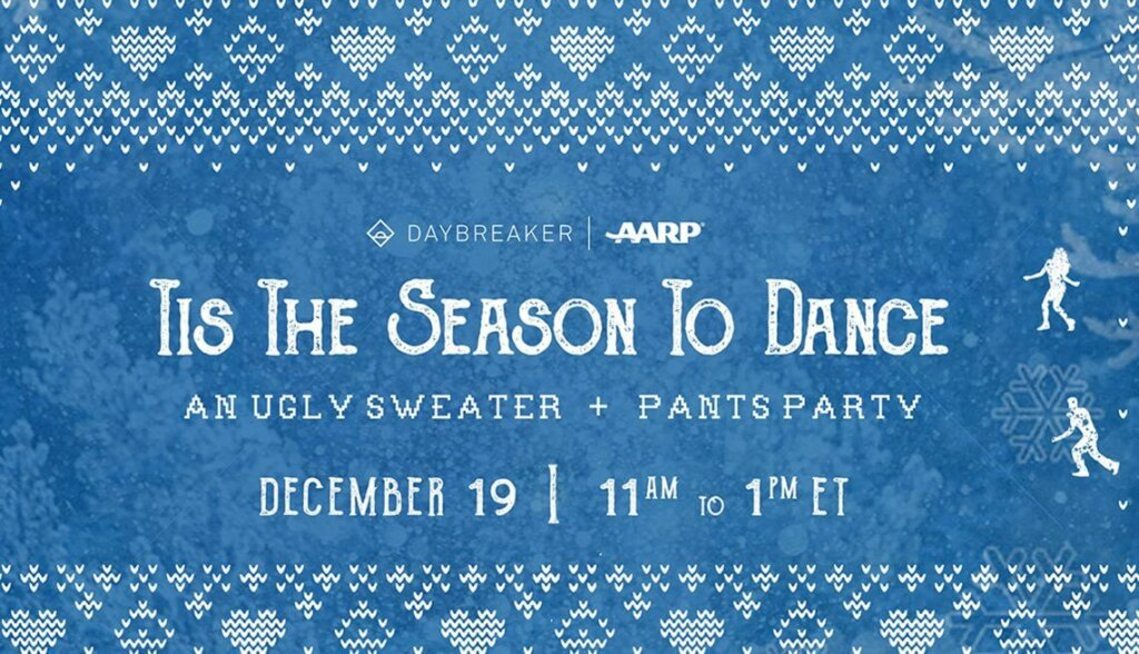 "Dionne Warwick and the O'Jays perform for AARP and Daybreaker's ""Tis The Season To Dance"" party"