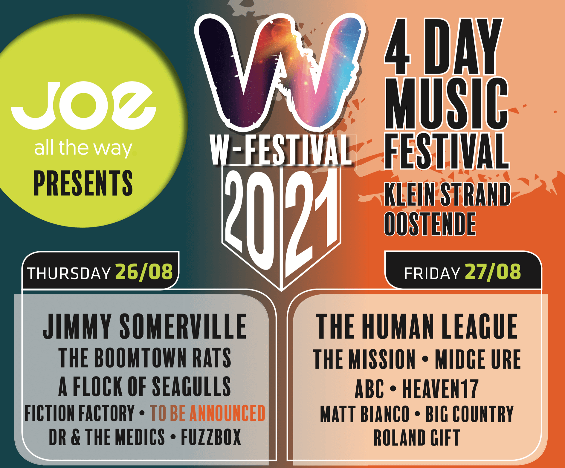 A Flock of Seagulls booked to play at W-Festival 2021