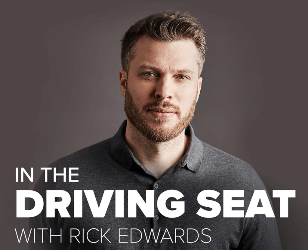 MN2S books all guests and host Rick Edwards for Halfords' motoring podcast In The Driving Seat
