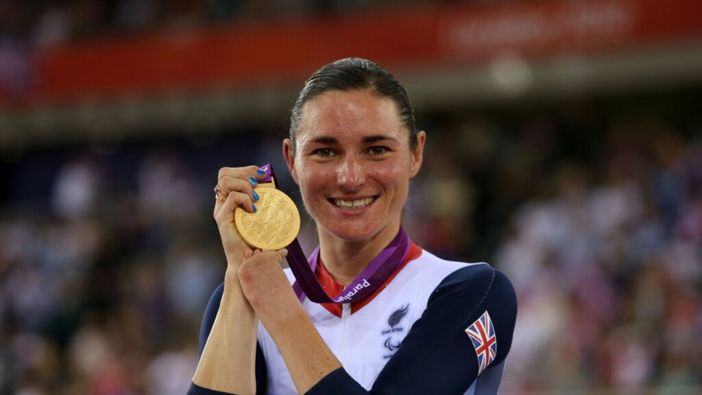 Dame Sarah Storey partnered with Sudocrem for Cycle More campaign
